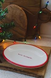 Kirs Kringle decorative festive Christmas cookie serving plate