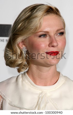 "Kirsten Dunst at MOCA's Annual Gala ""The Artists Museum Happening,"" MOCA Grand Avenue, Los Angeles, CA.  11-13-10"