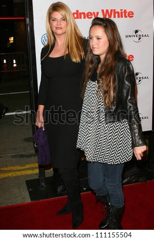 "Kirstie Alley and daughter Lillie at the Los Angeles premiere of ""Sydney White"". Mann Bruin Theatre, Westwood, CA. 09-20-07"