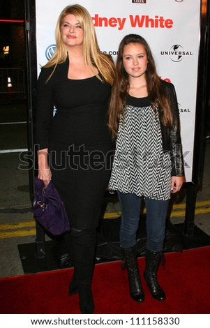 """Kirstie Alley and daughter Lillie at the Los Angeles premiere of """"Sydney White"""". Mann Bruin Theatre, Westwood, CA. 09-20-07"""