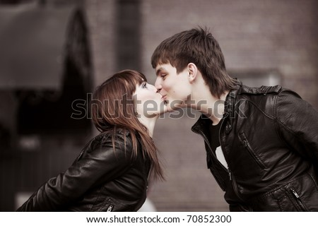 Kiss on the street