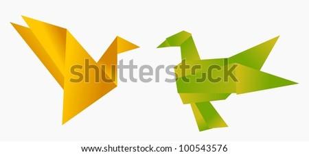 Kissing Bird Origami