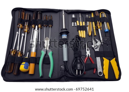 kit of electrical tools