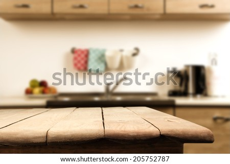 Shutterstock kitchen and wooden table