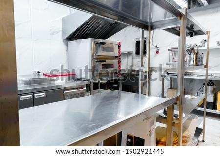 Kitchen appliances in professional kitchen in a restaurant Stock photo ©