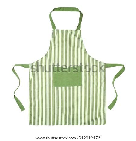 Kitchen apron isolated on white