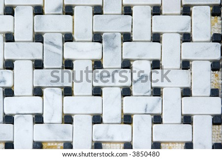 Kitchen back-splash. Marble tiles pattern and abstract background