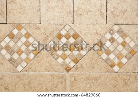 Kitchen back-splash. Stone tiles pattern and abstract background