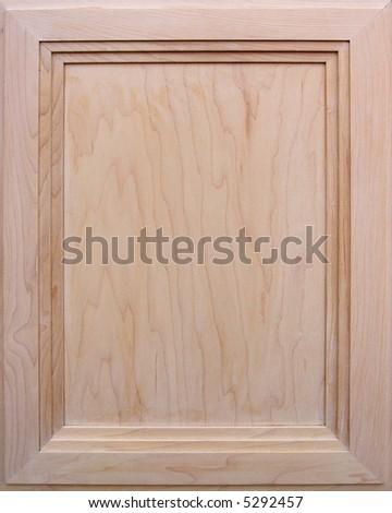 Kitchen cabinet door - wooden background