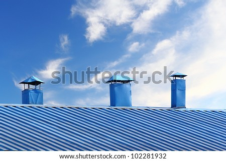 Kitchen chimney smoke and roof