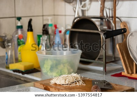 kitchen counter with nobody in the house