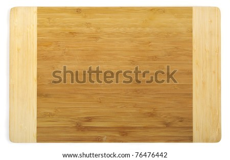 Kitchen cutting board made from bamboo, clipping path included