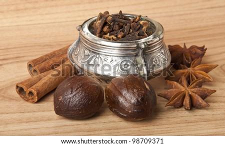 kitchen herbs - stock photo