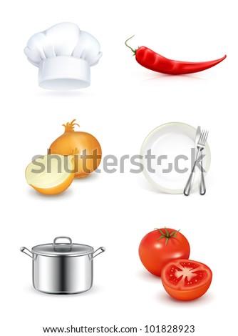 Kitchen, icon set bitmap copy