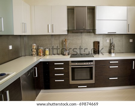 kitchen in a showroom b