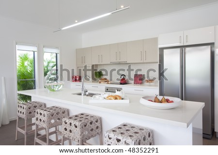 Kitchen in new modern townhouse