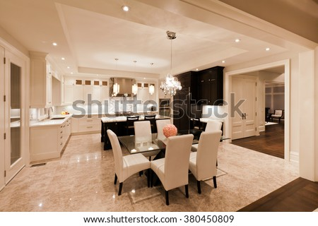 Kitchen interior in new luxury house