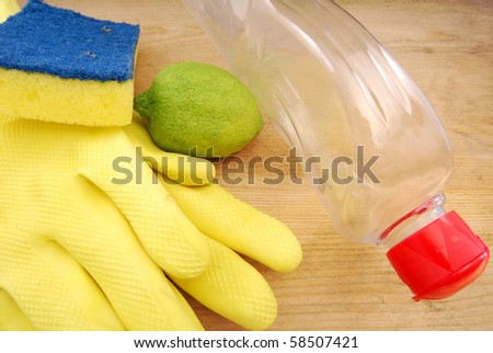 Kitchen items for cleaning dishes