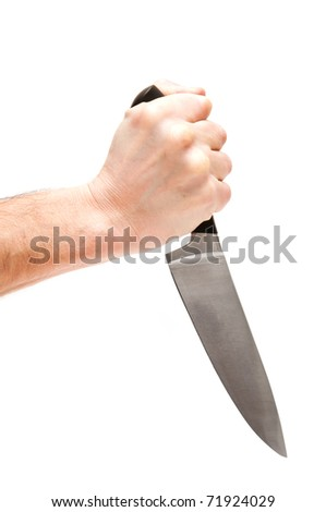 Kitchen knife in hand
