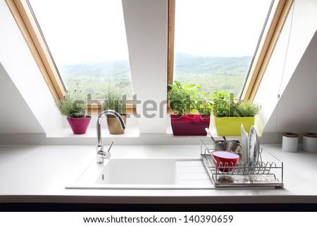 kitchen loft room