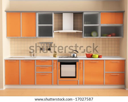 Kitchen peach stock photo 17027587 shutterstock - Peach color kitchen ...