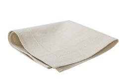 Kitchen plaid cloth napkin isolated on white background.