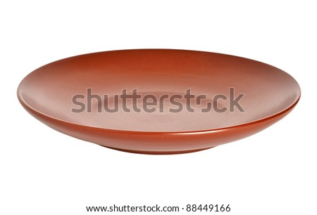Kitchen plate isolated on the white background