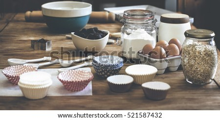 Kitchen Room Preparation Homemade Cooking   #521587432