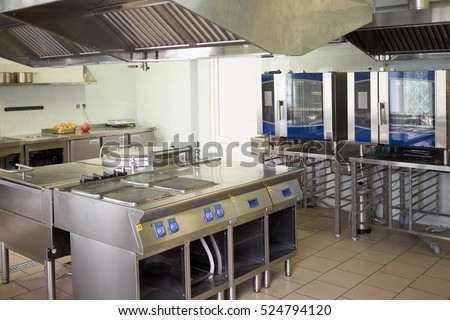kitchen room with stoves  sinks ...