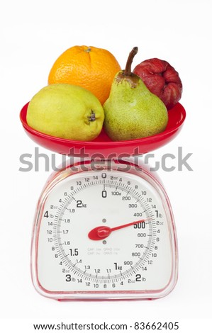 kitchen weight scale with diversity fruit