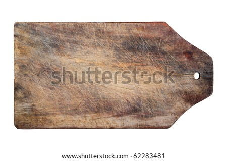 Kitchen wooden table, isolated, copy space, clipping path.