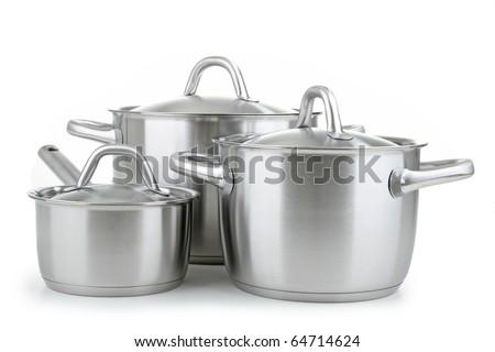 kitchenware on white background
