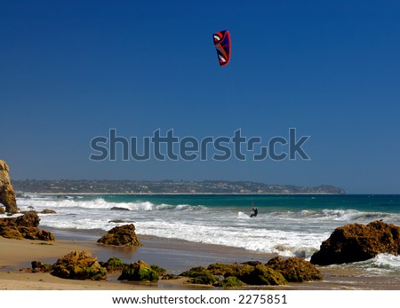 Kite Boarding in Malibu