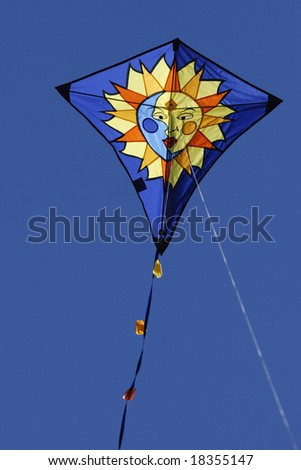 Kite flying on a summer day