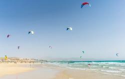 Kite - surfers paradise, Playa De Sotavento on Fuerteventura