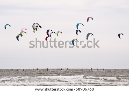 Kitesurfer in St Peter-Ording, Germany