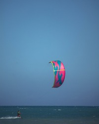 Kitesurfing in Caraíva, Bahia, Brazil