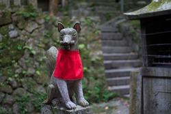 Kitsune Fox Statue in Kamakura, Japan
