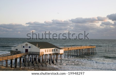 Kitty Hawk Pier at sunrise