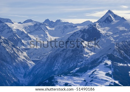Alp Peak http://www.shutterstock.com/pic-51490186/stock-photo-kitzsteinhorn-peak-in-austrian-alps-mountain-range-in-winter-with-ski-slopes-of-kaprun-resort.html