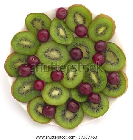 kiwi and cherries