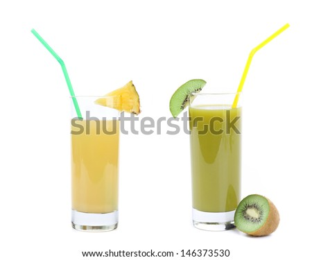 kiwi and pineapple juices