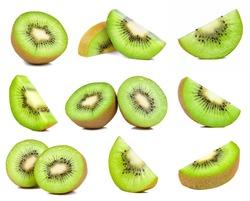 kiwi fruit isolated on the white background.
