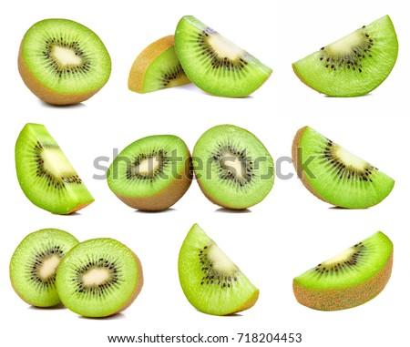 kiwi fruit isolated on the white background. #718204453