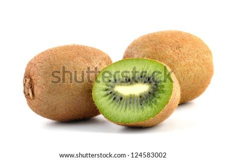 Kiwi fruit isolated on white background cutout
