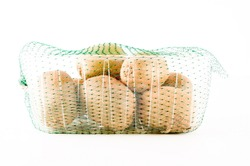Kiwi in a box isolated on white background