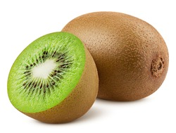 kiwi isolated on white background, full depth of field, clipping path