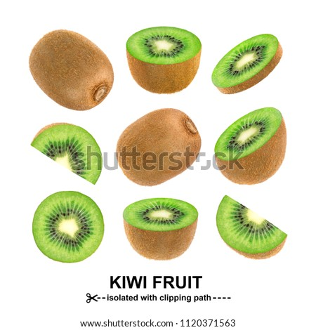 Kiwi isolated on white background with clipping path. Collection #1120371563