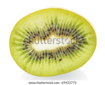 kiwi on white background - stock photo