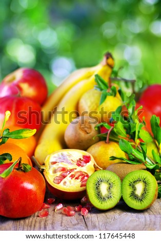 Kiwi , pomegranates and variety fruits